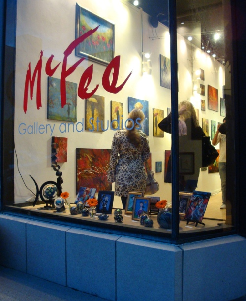 McFee Gallery Front Window